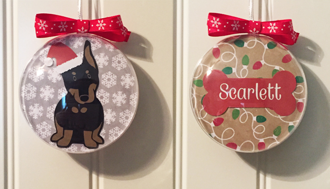 Handmade Doberman Christmas Ornaments