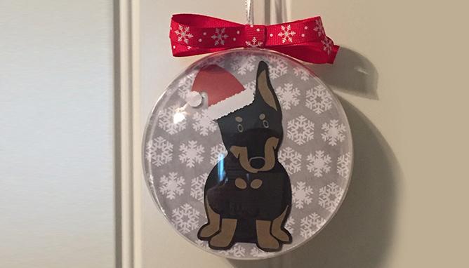 Custom Doberman Ornament